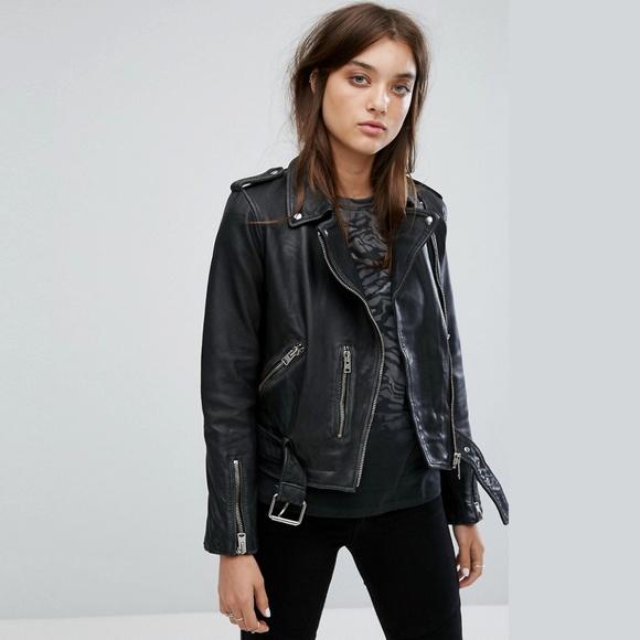 8cb19cde9 All Saints Vintage Leather Balfern Biker Jacket NWT